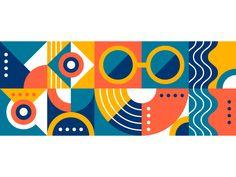 Geometry Pattern by Zivile Zickute on Dribbble Geometric Poster, Geometric Art, Geometric Designs, Geometric Graphic Design, Geometric Pattern Design, Web Design, Shape Design, Geometry Pattern, Pattern Art