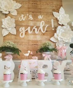Marcela C's Baby Shower / - It's a Girl Baby Shower! at Catch My Party Baby Shower Photos, Baby Girl Shower Themes, Boho Baby Shower, Baby Shower Princess, Floral Baby Shower, Baby Shower Gender Reveal, Baby Shower Cakes, Baby Boy Shower, Shower Party