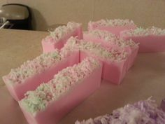 This is a Shea Butter Melt & Pour Soap Scented in Red Rose & Thyme
