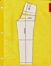 Cation Designs: Pants Pattern Alterations - lengthen back rise Diy Clothing, Clothing Patterns, Dress Patterns, Sewing Patterns, Unique Clothing, Shirt Patterns, Altering Pants, Altering Clothes, Sewing Pants