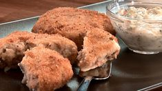 Les Croquettes, Tilapia, Fish And Seafood, Muffin, Breakfast, Creative, Best Salmon Recipe, Drizzle Cake, Seafood Recipes