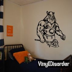Viking Warrior Wall Decal - Vinyl Decal - Car Decal - DC 085