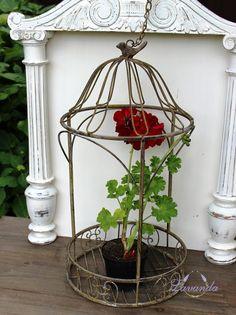 Dekoratívna kovová klietka Vtáčik Vintage, na terasu, balkón