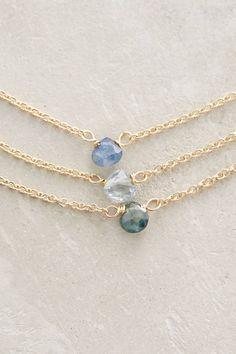 Sapphire Triplet Necklace - anthropologie.com