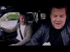 James Corden's 1st ever (not staged) carpool karaoke (w/ Gary Barlow, his hero) Very FUNNY! - YouTube