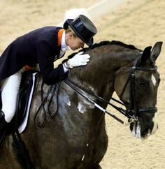 The bond between horse and rider. Even at the top