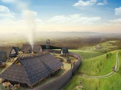 Alemanns Museum Historical Visualization by Moritz Weller, via Behance Eagle Images, Merovingian, Germanic Tribes, Early Middle Ages, Fantasy Places, Iron Age, Prehistory, Dark Ages, Roman Empire