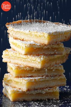 Whether you're in the mood for toasty treats, post-holiday sweets or a sneak peek of spring, these winter dessert recipes are the perfect indulgence on a frosty day. Potluck Desserts, Winter Desserts, Potluck Recipes, Lemon Desserts, Lemon Recipes, Just Desserts, Cookie Recipes, Delicious Desserts, Dessert Recipes