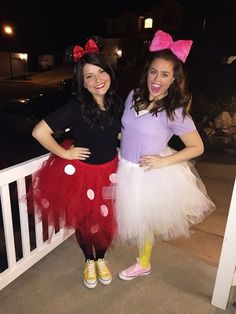 Minnie Mouse and Daisy Duck. Best friend costumes!