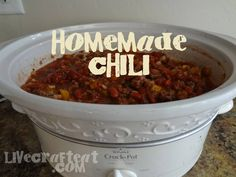 slow cooker chili - it's that time of year!