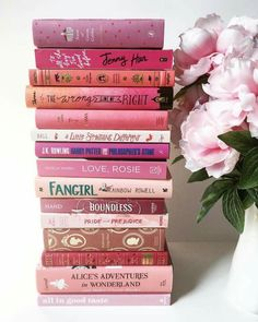 Pink book covers...love a few of them...