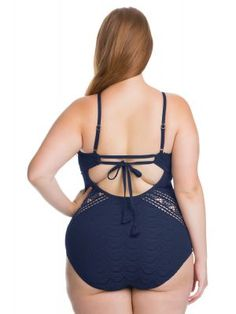 4751a1703d2ff Becca ETC - Becca Plus Size Swimwear - Plus Size Bathing Suits. High Neck  One ...