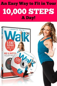 Reach your daily 10,000 step count goals - rain or shine - with this indoor walking DVD!