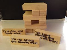 Something To Talk About SLP: Conversation Jenga post updated with links to original Jenga blocks set and a modified Jenga set for little hands.