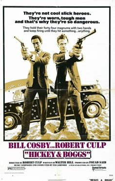 Hickey & Boggs is a 1972 neo-noir detective movie written by Walter Hill and directed by Robert Culp. Black Tv Shows, Old Tv Shows, Classic Film Noir, Classic Films, Bill Cosby, Trailers, Emergency Response Team, Artist Film, Perfume