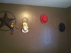 DIY Cowboy Bedroom decoration - Could easily change this into a cowgirl look for my little sister!