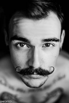 Wish my fella could grow a mustache like that...but in the meantime, I don't mind starting at this guy.