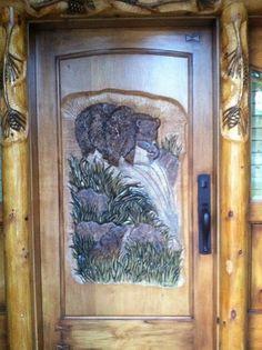 Custom carved by Shannon Seaman, Big Bear Lake, Ca.