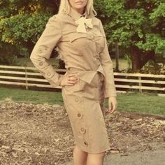 Steampunk Dirgible Stewardess Skirt Shirt Tie and Cap - MGD Clothing