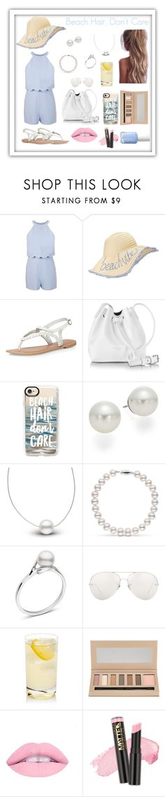 """""""Beach Hair, Don't Care"""" by natalielikesshopping ❤ liked on Polyvore featuring Miss Selfridge, Dorothy Perkins, Lancaster, Casetify, AK Anne Klein, Linda Farrow, Barry M, L.A. Girl and Essie"""
