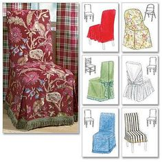 CHAIR COVER Sewing Pattern - Folding Parsons Ladder Back Dining Room Chairs