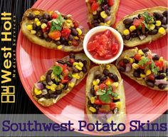 Serve these Southwest Potato Skins, which are a very good source of iron, vitamin B-6 and fiber, with chunky salsa. HEALTHY APPETIZER, FINGER FOOD.