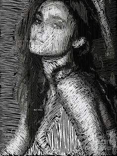 Studio Portrait In Pencil 39 Digital Art by Rafael Salazar
