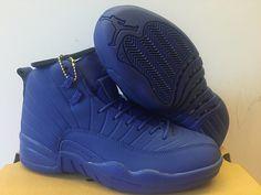 finest selection 7b591 2f115 Nike Air Jordan 12 OVO Mens Basketball Shoes All Blue Nike Jordan 12, Air  Jordan