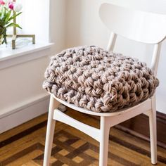 """This kit includes everything you need to make this gorgeous chunky crochet blanket featured in this photograph. The finished blanket measures 36"""" x 42"""". It incl"""