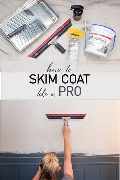 Learn how to Skim Coat Like A Pro