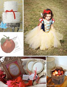 Enchanted Snow White Party by finestationery, via Flickr- cute for future- love the cake