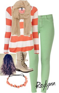 """""""Coral + Mint"""" by paris-and-raylynn-9909 ❤ liked on Polyvore"""