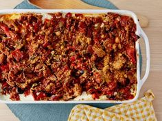 """Supreme Pizza Lasagna   ** NOTE: The ingredient list for this recipe is for TWO 9"""" x 12"""" baking dishes, so for two people, I'd need to quarter the recipe. **"""