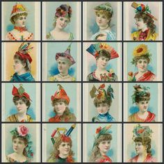 48 Vintage Dressed Up Beauties Illustrated Images by joapan, $3.75