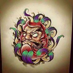 Resultado de imagem para skull samurai oriental