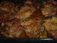 Konyhabűvész: FŰSZERES TARJA TEPSIBEN SÜTVE Pork, Keto, Chicken, Kale Stir Fry, Pork Chops, Cubs