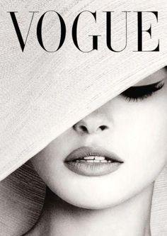 Vogue Cover White Hat Fotografia Poster Print Canvas - Francês, Vintage, Art Deco - the Vogue reader - Vogue Vintage, Vintage Vogue Covers, Vintage Art, Fashion Vintage, French Vintage, Vintage Beauty, French Hat, Retro Art, Vogue Wallpaper