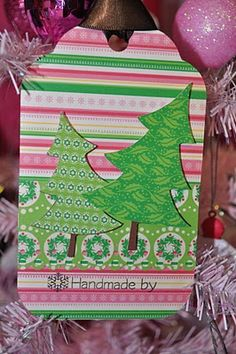 The Pink Stamper: Christmas Tags with the Cricut Imagine - My Pink Imagine-Nation Wednesday (Episode 255)