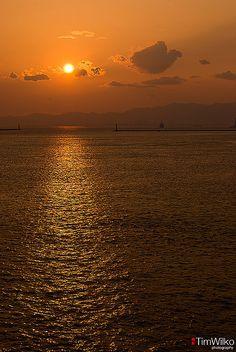 Sunset Osaka Bay Japan