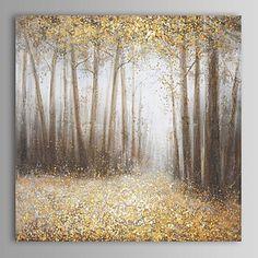【今だけ☆送料無料】 アートパネル  自然・風景画1枚で1セット 森林 ツリー 落ち葉 ゴールド【納期】お取り寄せ2~3週間前後で発送予定