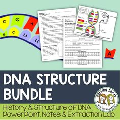 DNA Discovery and Structure - Genetics PowerPoint and Handouts.  Engage students with a fun coloring lesson on the history of DNA's discovery, its nitrogen base structure, and its function in the cell's nucleus. Follow it up with our version of a DNA extraction lab!
