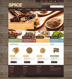 13+ Spice Shop Ecommerce Website Templates (Spice Store PrestaShop Themes) - Spices for Cooking