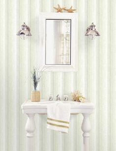 Carta da parati a righe verdi multifini Vanity, Letters, Dressing Tables, Powder Room, Vanity Set, Single Vanities, Vanities, Dresser To Vanity, Wash Stand