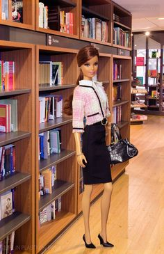 Fiction. In this photo: Tim Gunn Collection for Barbie® Doll 2. And, notice the books!