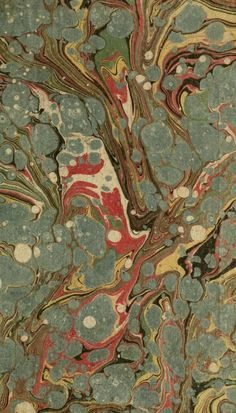 marbling from an old book
