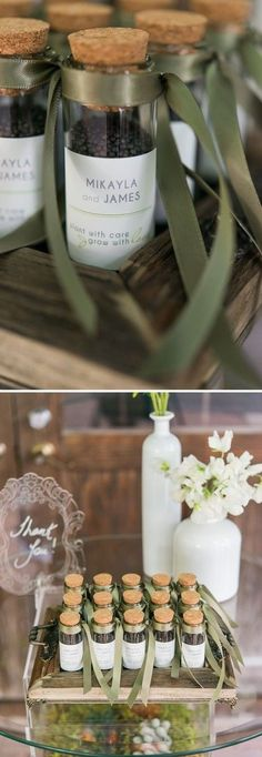Great favor idea!  Seeds for your guests to plant and grow.