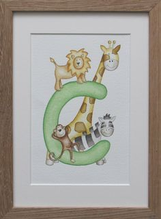 Green jungle initial - letter C