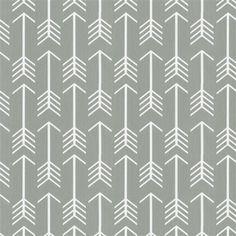 Gray Arrow Fabric by Carousel Designs.