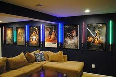 cozy Home theaters More ideas below: DIY Home theater Decorations Ideas Basement Home theater Rooms Red Home theater Seating Small Home theater Speakers Luxury Home theater Couch Design Cozy Home theater Projector Setup Modern Home theater Lighting System Home Theater Lighting, At Home Movie Theater, Home Theater Speakers, Home Theater Rooms, Home Theater Seating, Home Theater Design, Home Entertainment, Star Wars, Small Home Theaters
