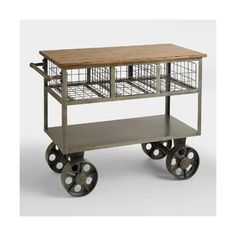 cost plus world market bryant mobile kitchen cart 500 liked on polyvore featuring